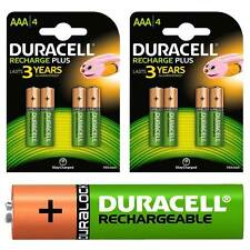 8 x Duracell AAA HR03 750 mAh Rechargeable Batteries NiMH ACCU DECT Phone etc.