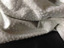 "NEW Light Mint Colour Designer Cloque With White Silver Lurex Dots Fabric 56""143"