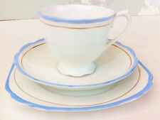 "Royal Albert ""BABY BLUE"" TEA TRIO"