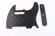 Black Aluminum Diamond Plate Tele Pickguard Set Fits Fender Telecaster  USA