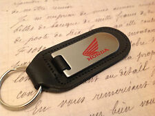 HONDA Key Ring Etched & infilled On Leather JAZZ INSIGHT CIVIC ACCORD CR Z V