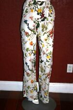 $68.90 NWT ZARA WOMEN FLORAL ELASTIC WAIST  PANTS  VISCOSE  MADE IN SPAIN SIZE M