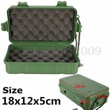 Travel Plastic Box Case Storage For Flashlight Torch Lamp Light Set with String
