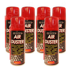 6 Pack Air Duster Gadget Cleaner Cleans Keyboards Laptops Phones Printers Fax