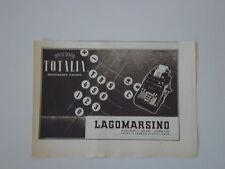 advertising Pubblicità 1943 MACCHINA PER SCRIVERE TOTALIA LAGOMARSINO