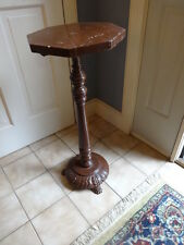 ANTIQUE wood ACANTHUS LEAF CLAW FOOT FERN PLANT ART BUST STAND REGENCY ERA
