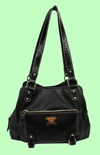 Style & Co. Precious Cargo Black Leather Satchel Bag Msrp $88.00