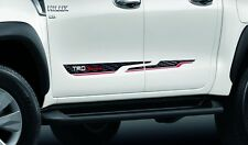 TOYOTA HILUX REVO 2015 PAIR LH + RH GENUINE TRD BODY STICKER SET OF2