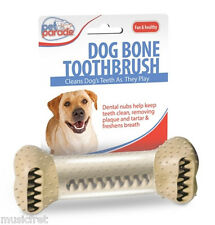 Pet Parade Dog Bone ToothBrush, Helps Remove Plaque and Tarter, Healthy & Clean