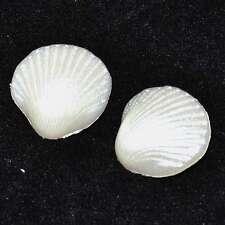 mercerie Lot de 2 boutons plastique coquillage blanc nacré 18mm button
