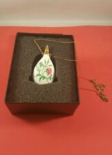 Perfume Porceline Pendant With A 24kt Gold Electroplated  Stopper.
