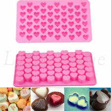 55 - Heart Cookies Baking Silicone Mould Cake Chocolate Candy Jelly Soap Mold
