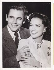 GLENN FORD ELEANOR POWELL Original CANDID Engagement Vintage 1943 Press Photo
