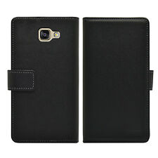 Samsung Galaxy A5 2016 SM-A510F Wallet BLACK Leather Case Cover Pouch Saver