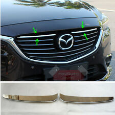 2pcs ABS Chrome Front Grille Grill Molding Trim For Mazda 6 Atenza 2016 2017