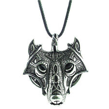Fashion Men's Cool Stainless Steel Wolf Animal Head Pendant Necklace Chain Gift