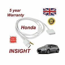 Genuine Honda INSIGHT iPhone 3GS 4 4 iPod USB & 3.5mm Aux Cable replacemnt White