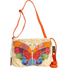 Laurel Burch Flutterbye Small Crossbody - Multi Cross-Body Bag NEW