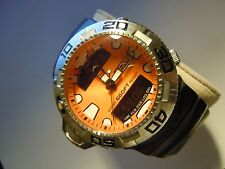 RARE INVICTA SCUBA PROFESSIONAL DIVER 2735 ORANGE DEPTH METER MENS WATCH
