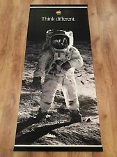 APPLE THINK DIFFERENT Original 1998 Huge Vinyl Banner BUZZ ALDRIN MOON LANDING