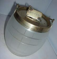 ANTIQUE VINTAGE VICTORIAN GLASS STORAGE BISCUIT BARREL POT JAR 15cm HIGH