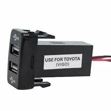 Double Port USB Car Socket Lighter Charger Adapter 12V-24V For Toyota VIGO UR