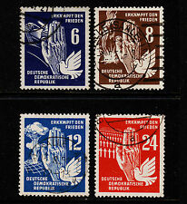 1950 Germany DDR Dove and Tank Set Sc#71-74 Used VF