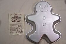 Wilton Gingerbread Boy Cake Pan Mold Instructions 1985 2105-2072 Circus Clown