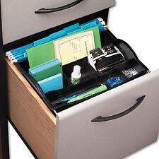 Rubbermaid Hanging Desk Drawer Organizer Plastic Black 11916ROS
