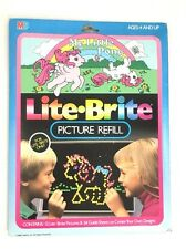 LITE-BRIGHT PICTURE REFILL MY LITTLE PONY VINTAGE 1984 HASBRO NIB