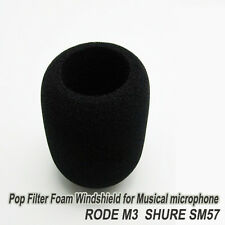 Foam Windshield for RODE M3 SHURE SM57 Musical Microphone Filter windscree Cover