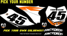 KTM SXF SX 2016-17 125-450 Pre Printed Number plate Backgrounds FAST GUY