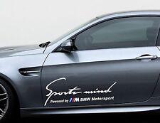 2 x Sports mind by M BMW Motorsport Seitenstreifen 60 cm Aufkleber Sticker Auto