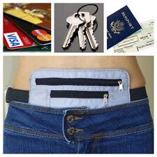 Secret Waist Wallet Pocket Money Belt Valuables Unisex Passport Travel Gray