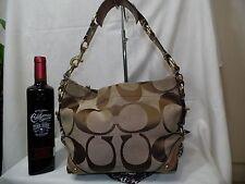 Authentic COACH Leather Canvas Purse Handbag c11