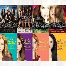 Sara Shepard Pretty Little Liars 8 Books Collection Set, Wanted, Heartless PB UK