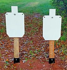 "Two 12""X20""  SILHOUETTE AR500 STEEL TARGETS and two TARGET STANDS"