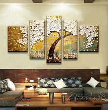 Palette Knife Hand Painted Abstract CANVAS OIL PAINTING  Cherry Blossom Tree 1