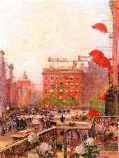 A3 Box Canvas Broadway and Fifth Avenue Hassam Impressionism American