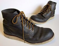 Red Wing Heritage Classic Round Toe 8152 Concrete R&T Leather Mens Boots SZ 9 D