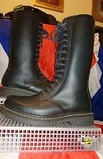 Shower*Black Rubber Dr Doc Martens*Calf High Wellingtons*Skingirl Punk Goth*UK 6