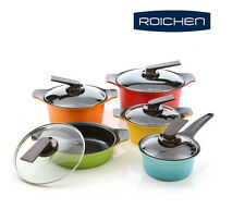 ROICHEN Cookware pot set,10piece,Natural Ceramic Coating,Nonstick - Free EMS