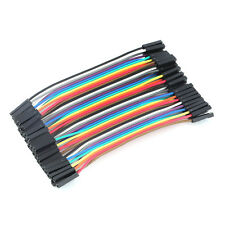 40pcs 10cm 2.54mm Female to Female Wire Jumper Cable 1P-1P For Arduino CAF