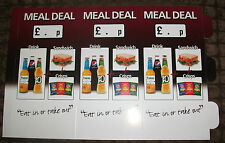 8 BRAND NEW MEAL DEAL TRIANGLE TABLE TENT CARDS