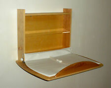 Horizontal wall mounted baby changing table hand made in Vermont, USA