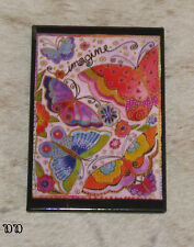 "LEANIN TREE ""Imagine"" Butterflies Flowers Magnet #67064 ~ Artist Laurel Burch"