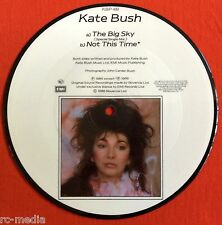 "KATE BUSH -The Big Sky- Rare Original 1986 UK 7"" Picture Disc (Vinyl Record)"