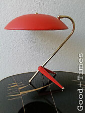 "50s Tischlampe Tripod ""selten"" Rot  Messing  Lampe - 1950 er Jahre"