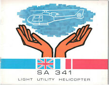 SUD AVIATION WESTLAND SA 341 HELICOPTER MANUFACTURERS SALES BROCHURE 1968