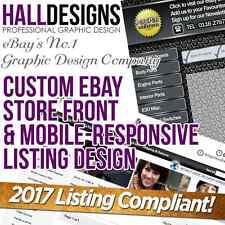 Logotipo personalizado de tienda eBay Tienda & & plantilla de anuncio servicio de Diseño 2017 compatible